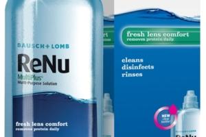 Solutie intretinere lentile de contact ReNU 120 ml