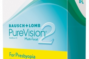 Lentile de contact multifocale lunare pentru presbiopie Bausch&Lomb PureVision 2HD 6 buc/cutie