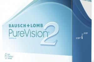 Lentile de contact sferice lunare Bausch&Lomb PureVision 2HD 6 buc/cutie