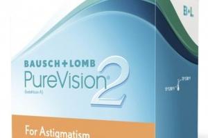 Lentile de contact torice lunare Bausch&Lomb PureVision 2HD 6 buc/cutie